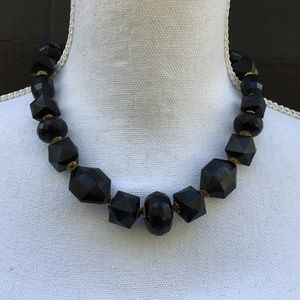 Jewelry - Chunky black  bead necklace